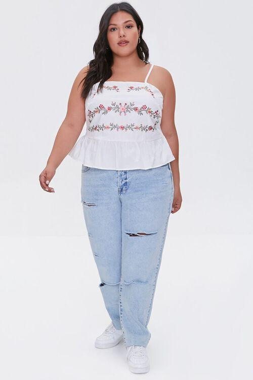Plus Size Embroidered Floral Cami, image 4
