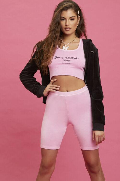 PINK/BLACK Juicy Couture Crop Top, image 1