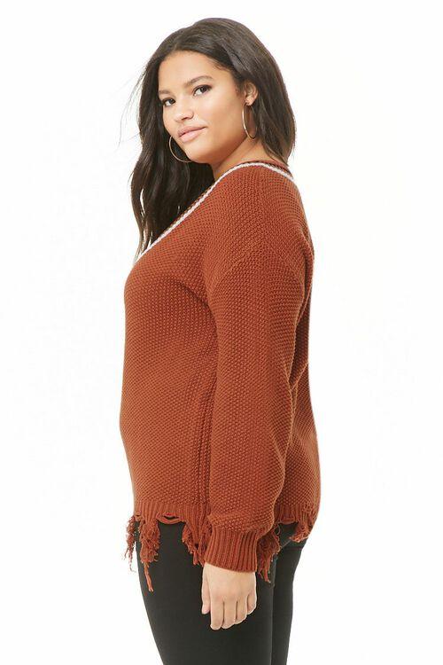 Plus Size Striped Sweater, image 2