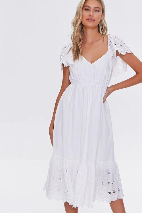 Cotton Floral Eyelet Dress, image 1