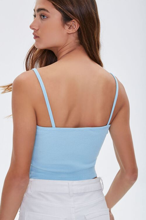 Ribbed Knit Cropped Cami, image 3