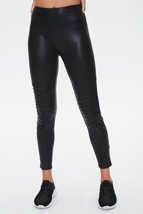 Active Faux Leather Moto Leggings, image 2