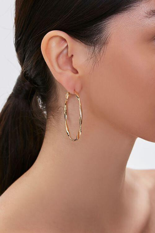 Twisted Hoop Earrings, image 1