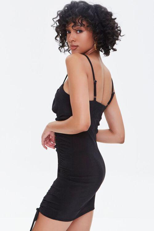 Ribbed Drawstring Mini Dress, image 2