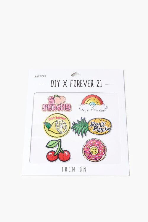 Fruit Graphic Embroidered Iron-On Patch Set, image 2