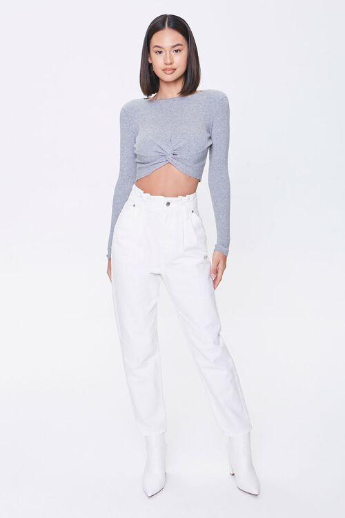 Shoulder-Pad Twist-Hem Sweater, image 4