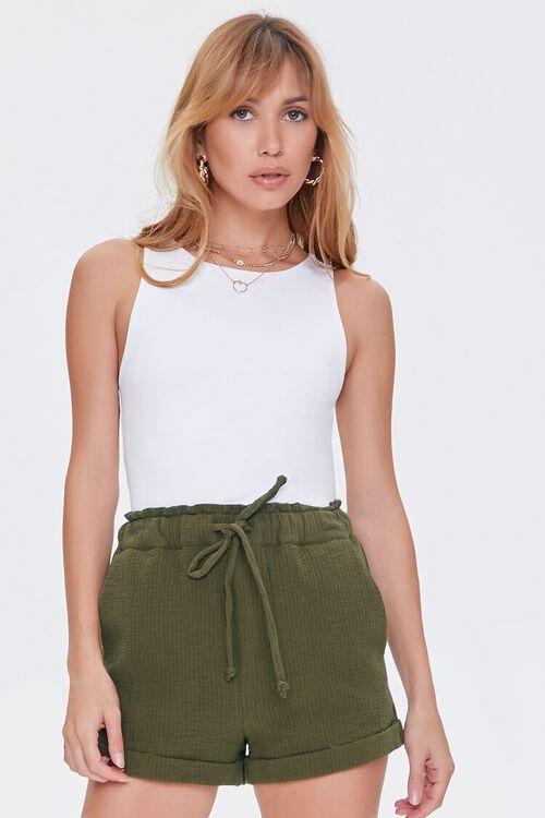Paperbag Drawstring Shorts, image 1