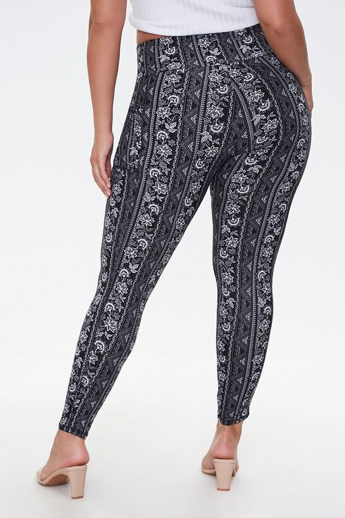Plus Size Ornate Leggings Set, image 3