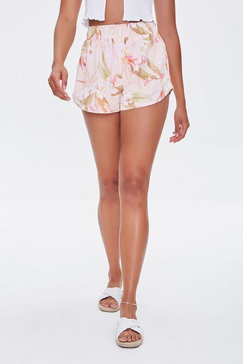 Tropical Leaf Print Shorts, image 3