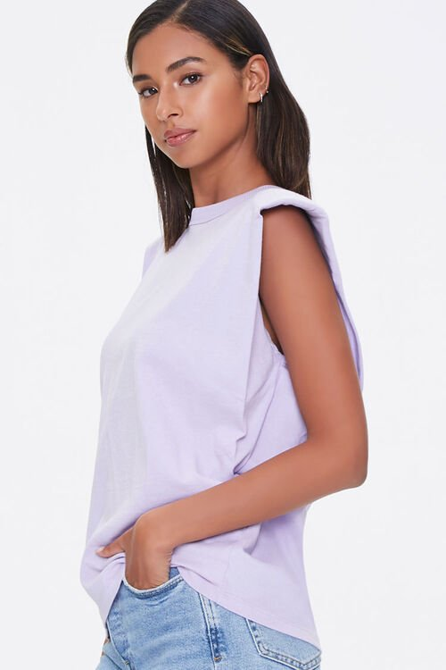 Cotton Shoulder-Pad Muscle Tee, image 2