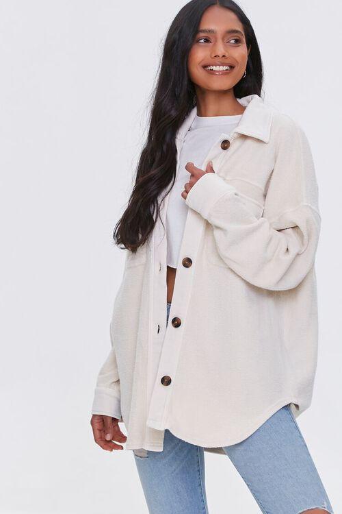 Reverse Cotton Fleece Shacket, image 6