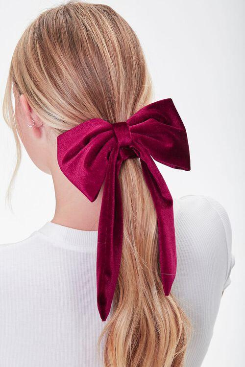 Velvet Bow Scrunchie, image 1