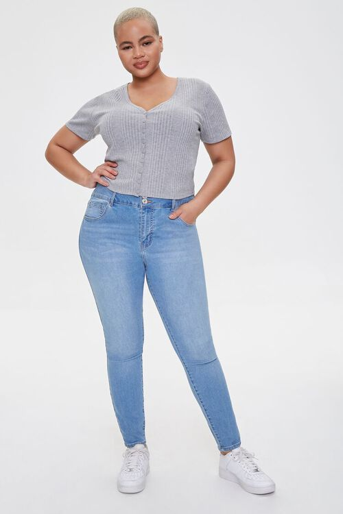 Plus Size Button-Up Tee, image 4