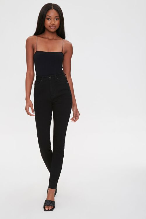 Straight-Neck Cami Thong Bodysuit, image 4