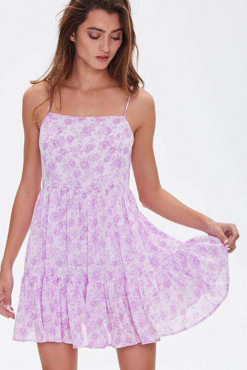 Floral Print Mini Cami Dress, image 1