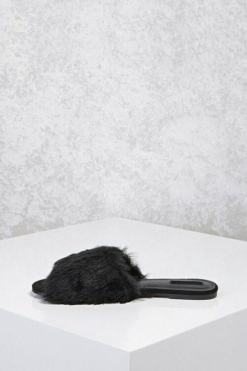 Faux Fur Slide Sandals, image 5
