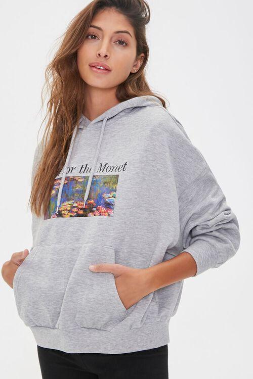 Monet Graphic Fleece Hoodie, image 1