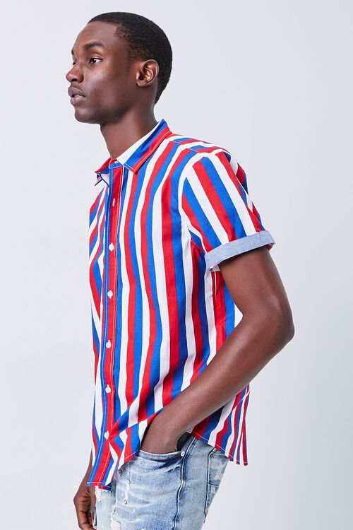 RED/MULTI Fitted Striped Print Shirt, image 2