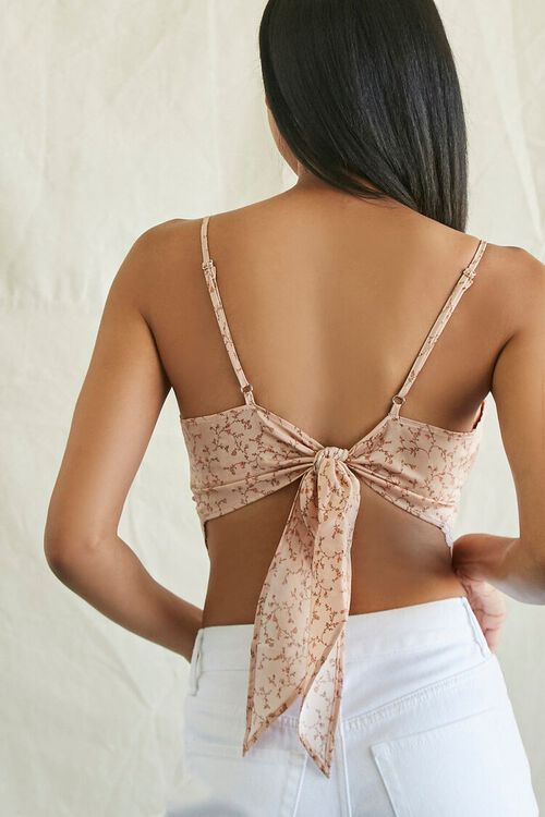 Floral Print Tie-Back Cropped Cami, image 3