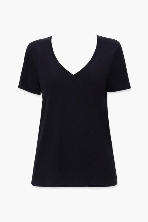 BLACK Basic Cotton-Blend Tee, image 1