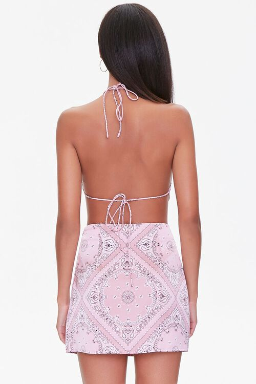 Paisley Print Mini Skirt, image 3