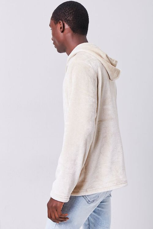 TAUPE Fuzzy Knit Hoodie, image 2
