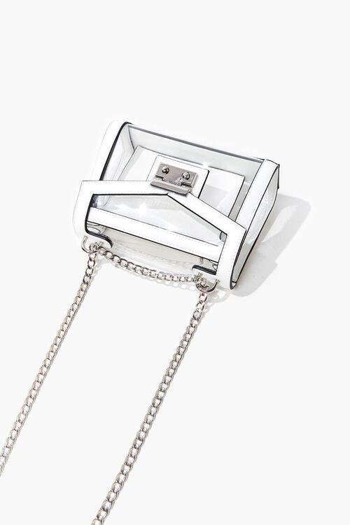 CLEAR Transparent Opaque-Trim Crossbody Bag, image 3