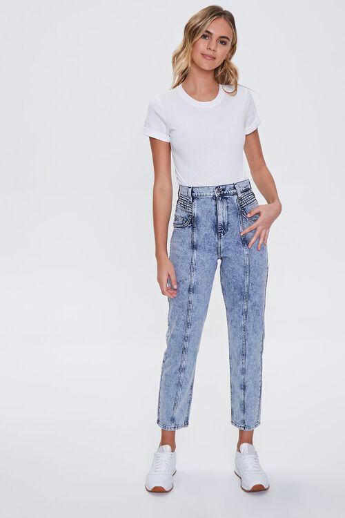 Seamed Straight-Leg Jeans, image 1