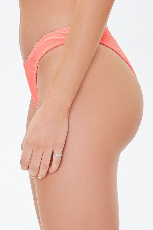 Ribbed High-Cut Bikini Bottoms, image 3