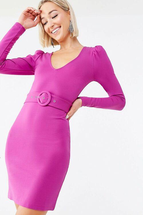 O-Ring Belt Mini Dress, image 1