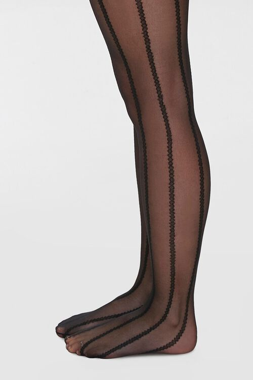 Sheer Striped Tights, image 2