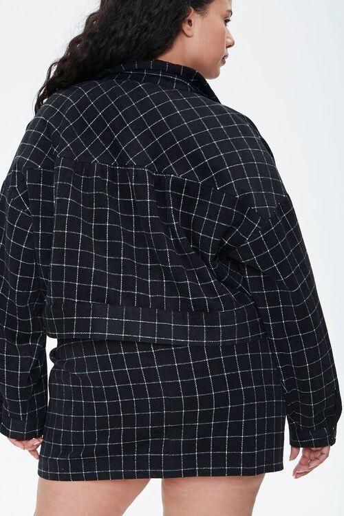 Plus Size Grid Print Jacket, image 3