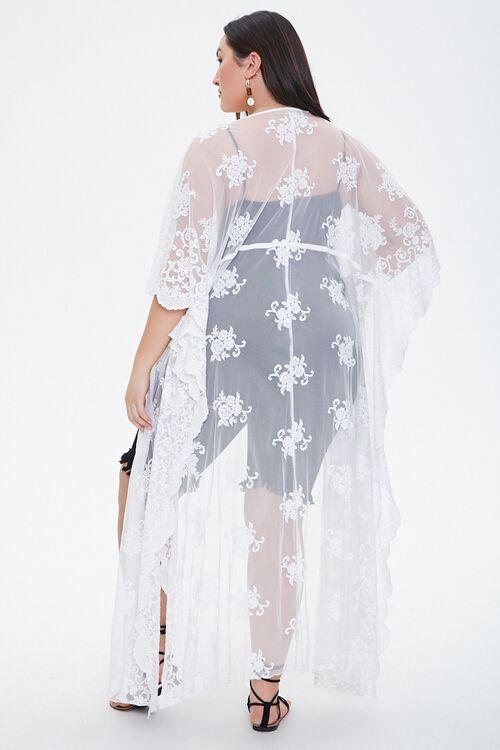 Plus Size Floral Mesh Cardigan, image 3