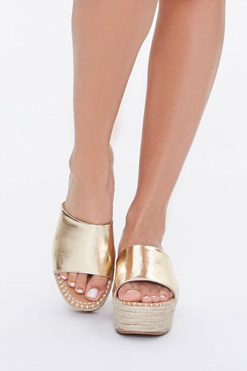 Metallic Espadrille Platform Sandals, image 4