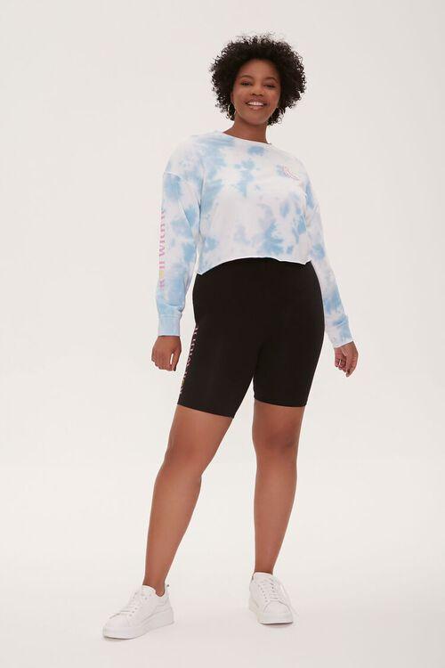 BLUE/MULTI Plus Size Tie-Dye Moxi Skates Top, image 5