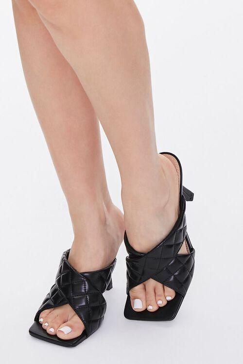Quilted Crisscross Heels, image 1