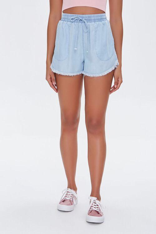 Frayed Chambray Shorts, image 2