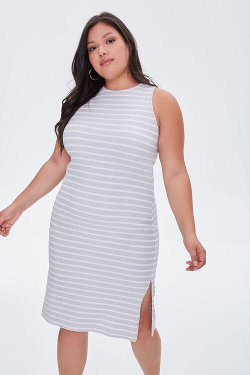 Plus Size Striped Tank Dress, image 1