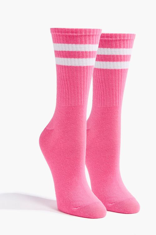 Varsity-Striped Crew Socks, image 1