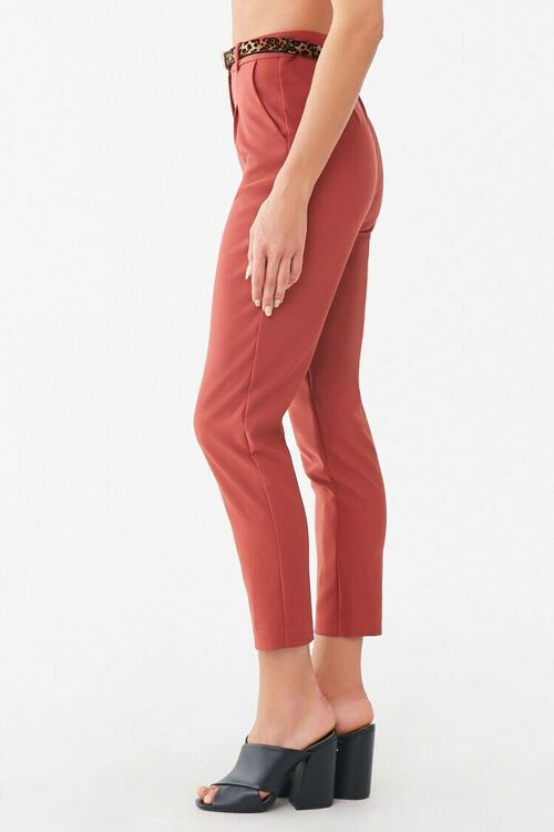 Belted Hook-and-Eye Ankle Pants, image 2