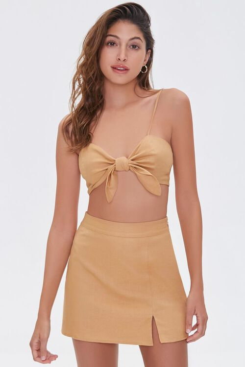 Linen-Blend Skirt, image 1