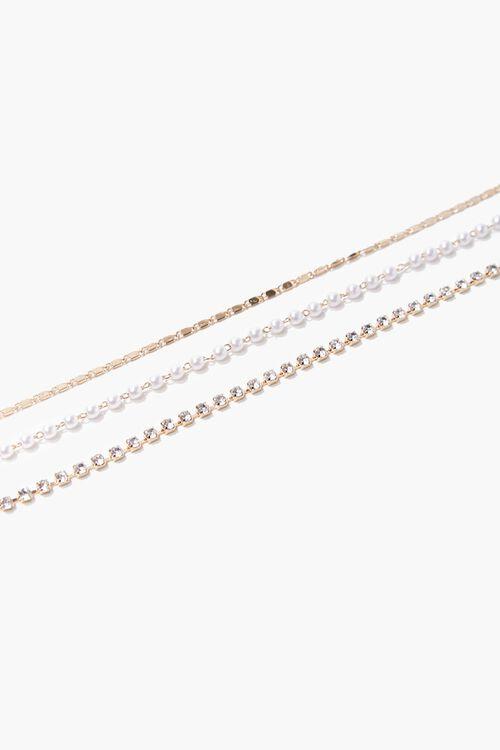 Faux Pearl Bracelet Set, image 1