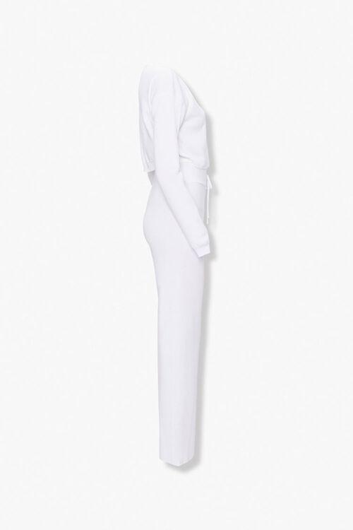 IVORY Drop-Shoulder Sweater Top & Pants Set, image 2