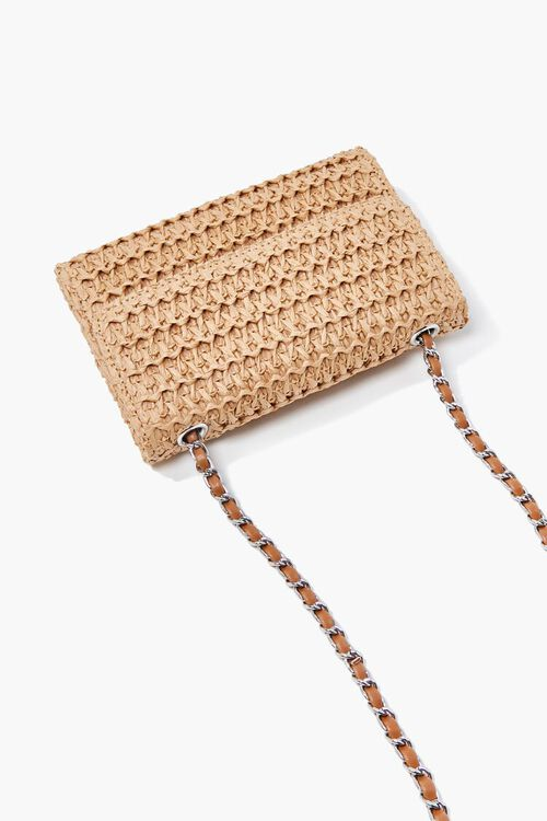 Faux Straw Basketwoven Crossbody Bag, image 3