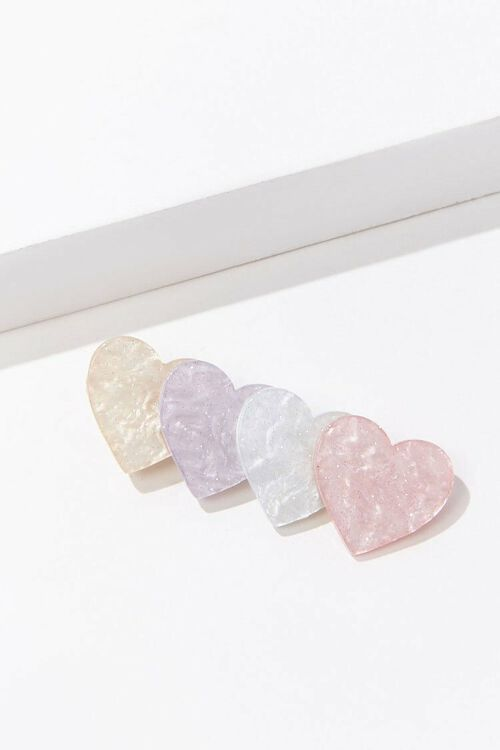 PINK/MULTI Marble Heart Gator Hair Clip, image 2