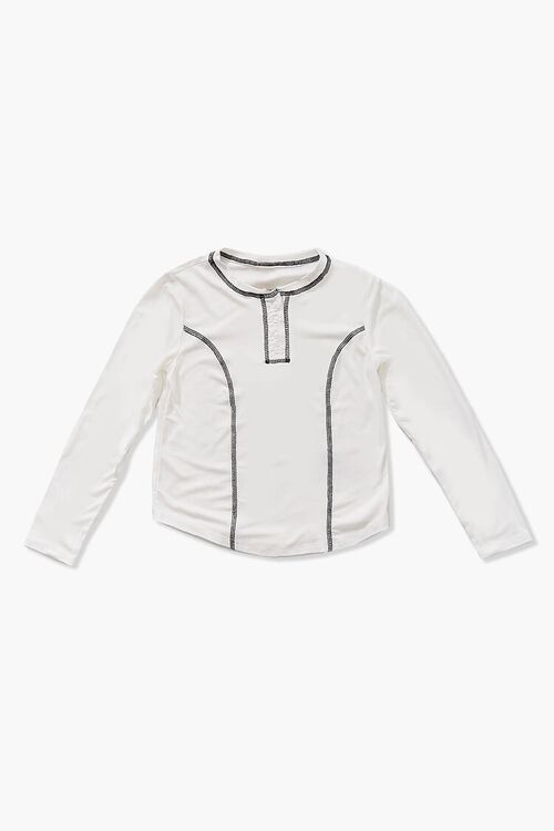 Girls Topstitched Buttoned Top (Kids), image 1