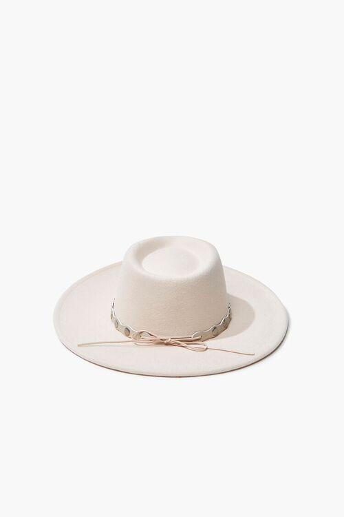 Studded-Trim Felt Panama Hat, image 3