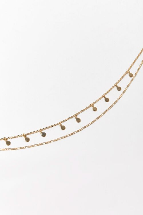 Layered Disc Charm Chain Anklet, image 1