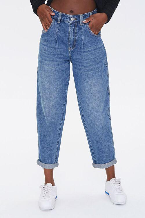 MEDIUM DENIM Wide-Leg Ankle Jeans, image 2