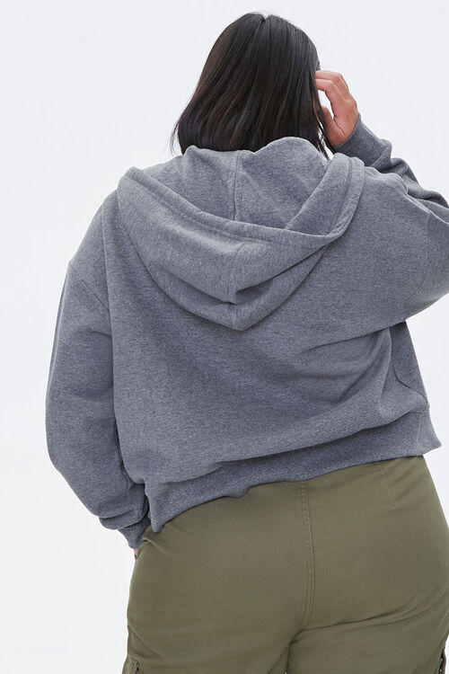 Plus Size Fleece Zip-Up Hoodie, image 3